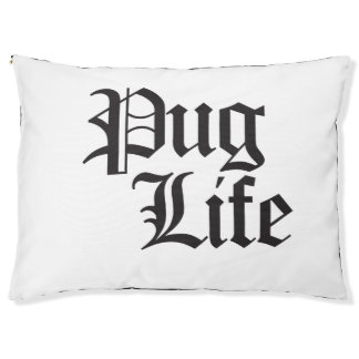 Pug Life Dog Bed Large Dog Bed