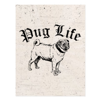 Pug Life Funny Dog Gangster Postcard