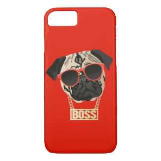 Pug Life-I am the Boss Phone Case for Pug Parents