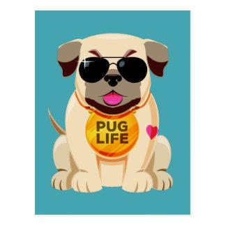 Pug Life postcard