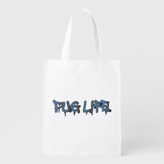 Pug Life Reusable Grocery Bag