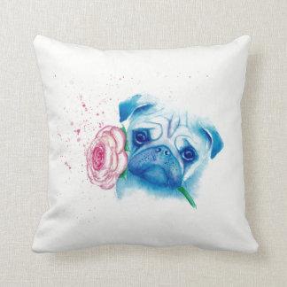 "Pug Love Cotton Throw Pillow 16"" x 16"""