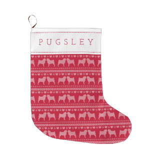 Pug Love Custom Christmas Stocking