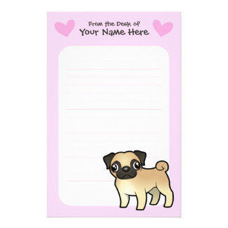 Pug Love Customized Stationery