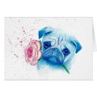 Pug Love Greetings Card