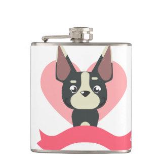 Pug Love Hip Flask