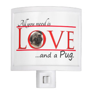 Pug Love Night Light