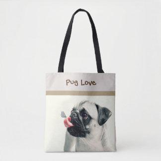 Pug Love - PERSONALIZE - Handbag / Tote