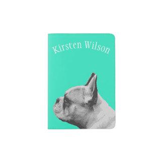 Pug Love | Personalized Aqua Passport Holder