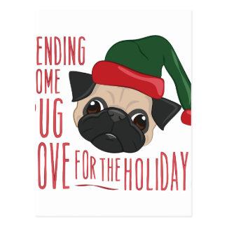 Pug Love Postcard