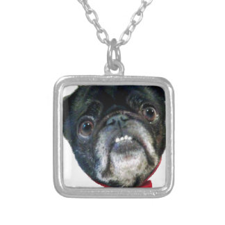 PUG love Silver Plated Necklace