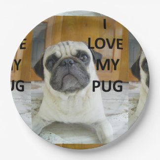 pug love w pic.png paper plate