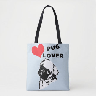Pug Lover Beach Bag
