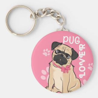Pug Lover Keychain