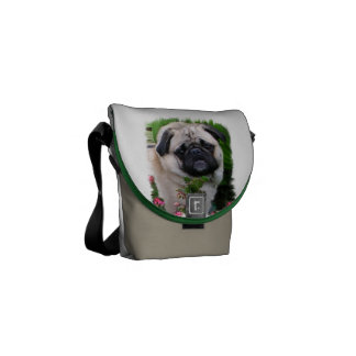 Pug Lovers Art Courier Bag