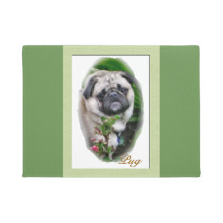 Pug Lovers Art Doormat