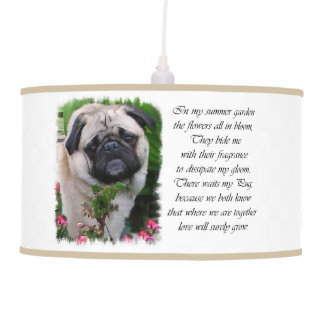Pug Lovers Art Pendant Lamp