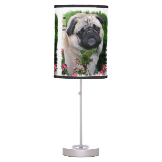 Pug Lovers Art Table Lamp