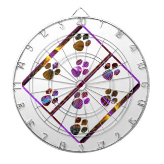 PUG Mark Assembly with colored stones Dartboard