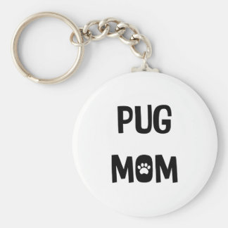 Pug Mom Keychain