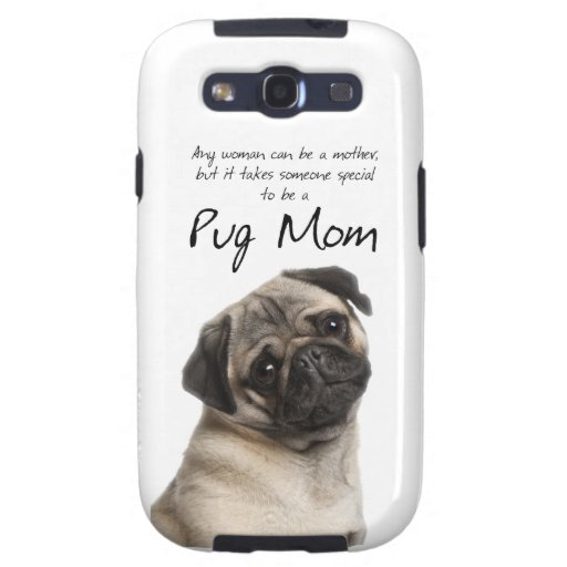 Pug Mom Samsung Galaxy III Case Samsung Galaxy S3 Case