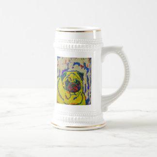 Pug Mug Abstract Animal Dog Art