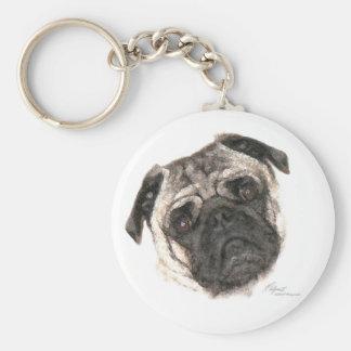 Pug Mug face keychain