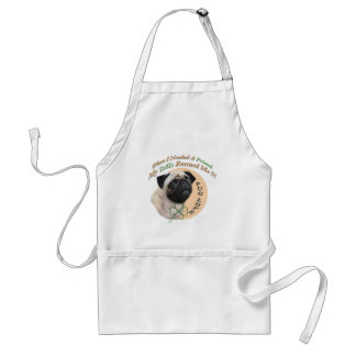 Pug My Dad Rescued Me Standard Apron