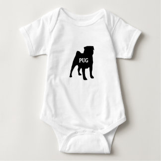 pug name silo baby bodysuit