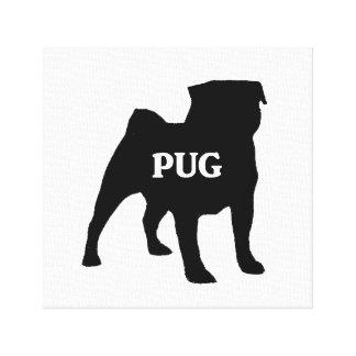 pug name silo canvas print