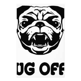 Pug Off Personalized Stationery