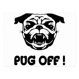 Pug Off Postcard