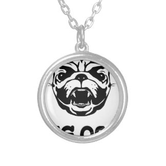 Pug Off Silver Plated Necklace