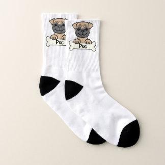 Pug On A Bone Socks
