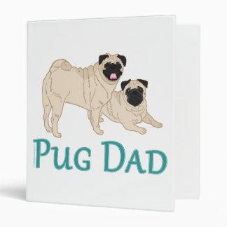 Pug Pair Dog Dad 3 Ring Binder