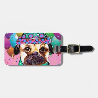 Pug Party Dog Bag Tag