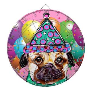 Pug Party Dog Dartboard