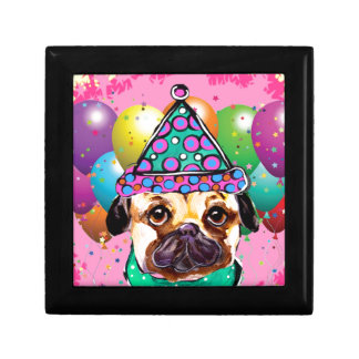 Pug Party Dog Gift Box