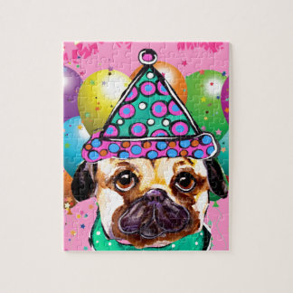 Pug Party Dog Jigsaw Puzzle