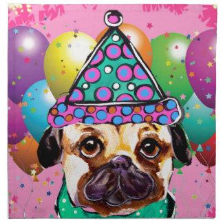Pug Party Dog Napkin