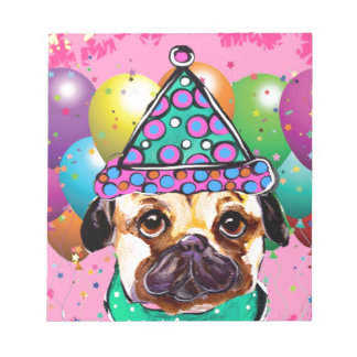 Pug Party Dog Notepad