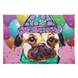 Pug Party Dog Placemat