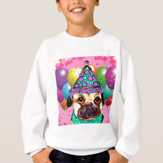 Pug Party Dog Sweatshirt