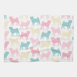 Pug_pastel_pattern Towels