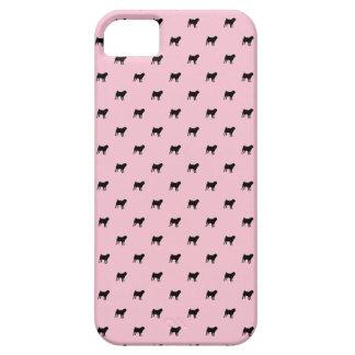 Pug Pattern iPhone 5 Case (black on pink)