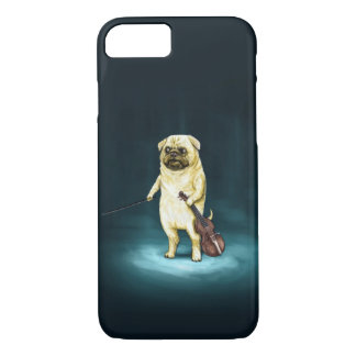 Pug playing the violin iPhone 7 case