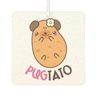 Pug Plus Potato Pugtato Car Air Freshener