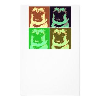 Pug Pop Art Stationery Paper