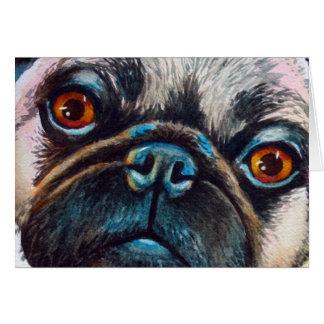 Pug Portrait Card