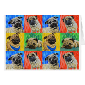 Pug Primary Repeating Pattern Card